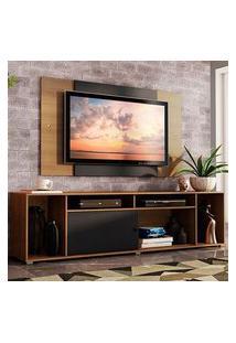 Rack Madesa Cancun E Painel Para Tv Até 58 Polegadas Rustic/Preto 7K7K Preto