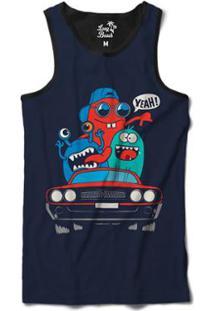 Camiseta Regata Long Beach Lb Lowrider Sublimada Masculina - Masculino-Azul bab27b18213