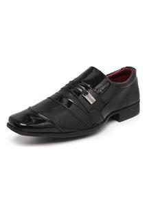 Sapato Social Masculino Verniz Schiareli Preto