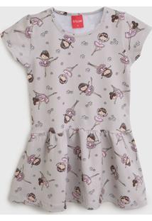 Vestido Tricae Infantil Balé Cinza/Rosa