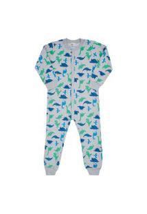 Macacão Pijama Rotativo Mescla Cinza - Primeiros Passos - Menino 1 45124-1053 Macacão Pijama Cinza - Primeiros Passos Menino Moletinho Ref:45124-1053-3