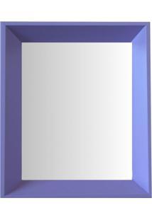 Espelho Moldura Madeira Lisa Fundo 16336 Lilás Art Shop