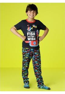 e9745c87526953 Pijama Infantil Puket Robôs - Masculino
