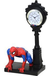 Relógio De Mesa Analógico Homem Aranha® - Preto & Vermelmabruk