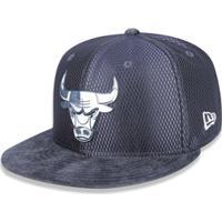 1bfea5e249d32 Bone 950 New Era Chicago Bulls Nba Aba Reta Snapback - Masculino-Chumbo