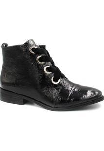Bota Cano Curto Zariff Shoes Ankle Boot Verniz Feminina - Feminino