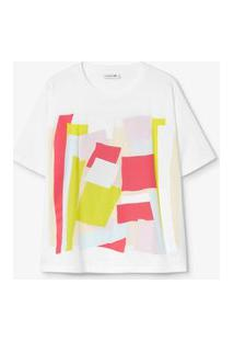 Camiseta Lacoste Boxy Fit Branco