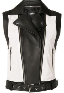 Karl Lagerfeld Colour Block Vest - Preto