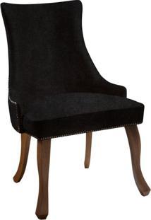 Cadeira De Jantar Leonardo Da Vinci Iii Liso Veludo Preto