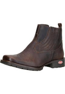 Botina Capelli Boots Bico Quadrado 1020 Café