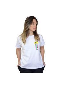 Camiseta Boutique Judith Smile Rainbow Branco