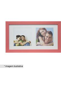 Painel Multifotos Insta- Vermelho & Branco- 15X28X1,Kapos