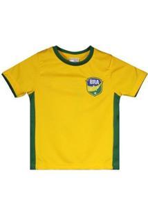 Camisa Brasil Gravataí Infantil N° 10 Masculina - Masculino