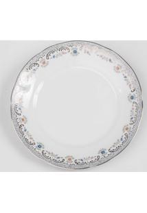 Prato Para Sobremesa Porcelana Schmidt - Dec. Saint Germain 2018