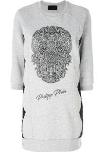 Philipp Plein Vestido De Moletom 'Emelia' - Grey