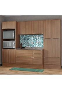 Cozinha Compacta Multimóveis Com 4 Peças Calábria 5452R Nogueira