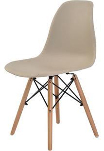 Cadeira Eames Eiffel Polipropileno Nude Base Madeira - 31627 Sun House