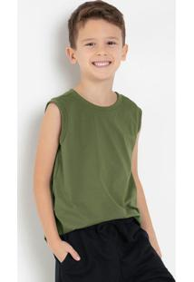 Regata Infantil Masculina Verde