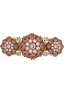 Dolce & Gabbana Presilha Para Cabelo Com Aplicação De Cristais - Dourado
