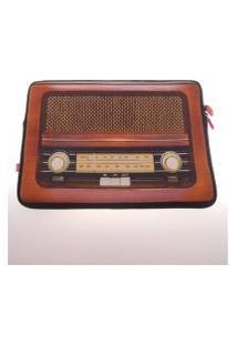 Capa Para Notebook Computador Decorativa Personalizada Rádio Retro