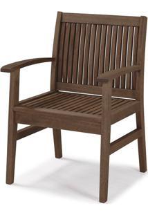 Cadeira Com Bracos Primavera Stain Nogueira - 34897 - Sun House