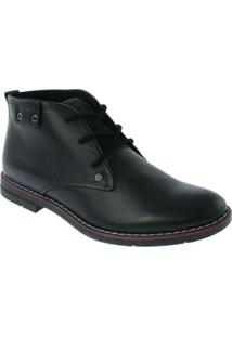 Sapato Pegada Social Couro Preto Amortech - 121976-10 - Masculino