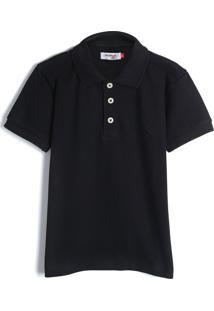 Camisa Reserva Mini Infantil Lisa Azul-Marinho