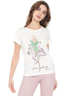 Camiseta Carmim Protea Off-White