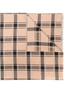 Givenchy Cachecol Xadrez - Marrom