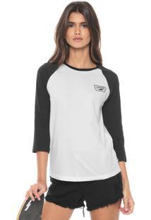 Camiseta Vans Full Patch Raglan Branca/Preta