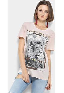 Camiseta My Favorite Thing(S) Leão Feminina - Feminino-Amarelo