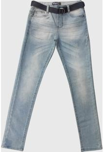 Calça Jeans Patria Brasil Kids Slim Kk 58471 Delavê