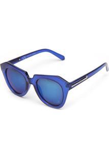 Óculos De Sol Adriane Galisteu Geométrico Azul