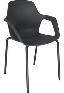 Cadeira De Cozinha Beau Com Braço Preta