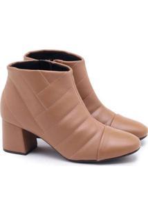 Ankle Boot Modare Matelassê Marrom