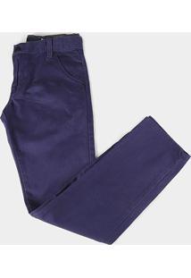 Calça Jeans Infantil Hd Color Básica Masculina - Masculino-Marinho