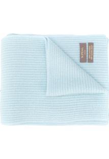 N.Peal Cachecol De Cashmere De Tricô Canelado - Azul