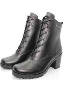 Bota Barth Shoes Wind Napa Sint - Marrom - 38 - Feminino-Preto