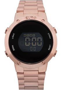 Relógio Euro Digital Eubj3279Af/4J Feminino - Feminino-Rosê