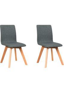 Conjunto Com 2 Cadeiras Lela Cinza