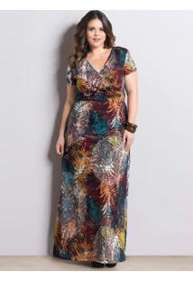 7bed968855c7a Vestido Longo Mix De Estampas Marguerite