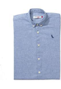 Camisa Mini Pf Mc Delave Reserva Mini Azul