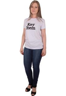 T-Shirt Via Costeira Com Estampa Bordada Branco - Branco - Feminino - Dafiti