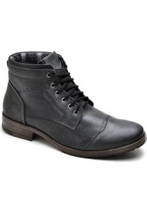 Bota Top Franca Shoes Casual Masculino - Masculino-Preto