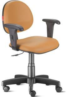 Cadeira Escritório Laranja Claro Com Braços Executiva