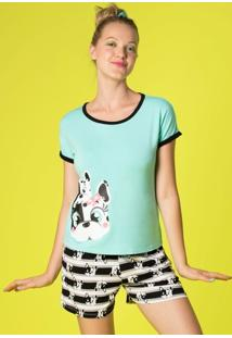 Pijama Curto Visco Dogs