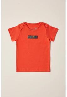 Camiseta Reserva Mini Silk Logomania Masculina - Masculino-Laranja