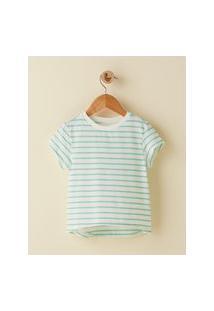 Amaro Feminino Camiseta Infantil Basic Listra, Listras Verde
