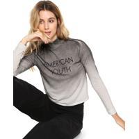 c21cf81f1087b Blusa Cropped Calvin Klein Jeans Degradê Cinza