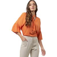 521c611565 Blusa Mx Fashion Crepe Harvey Laranja